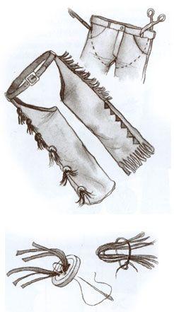 Chaps Cowboyhose Schnell Selbst Gemacht Cowboy Kostüm
