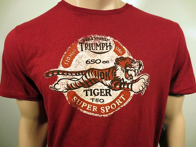 Lucky brand triumph motorcycle tiger t110 super sport for Lucky brand triumph shirt