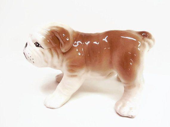 Large Ceramic Bulldog Figurine Bulldog Figurine Bulldog Boy Dog