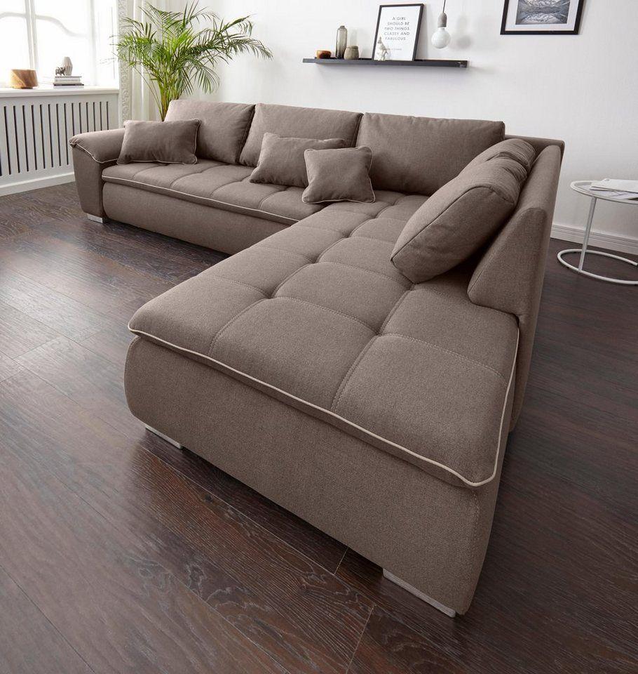 Jockenhofer Gruppe Ecksofa Mit Bettfunktion Und Bettkasten Online Kaufen Sofa Mit Bettfunktion Big Sofa Mit Schlaffunktion Ecksofa