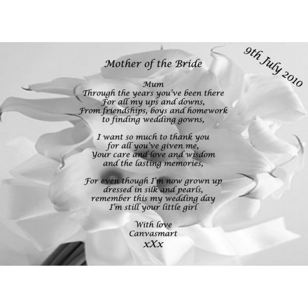 Wedding Poems Mother Of The Bride