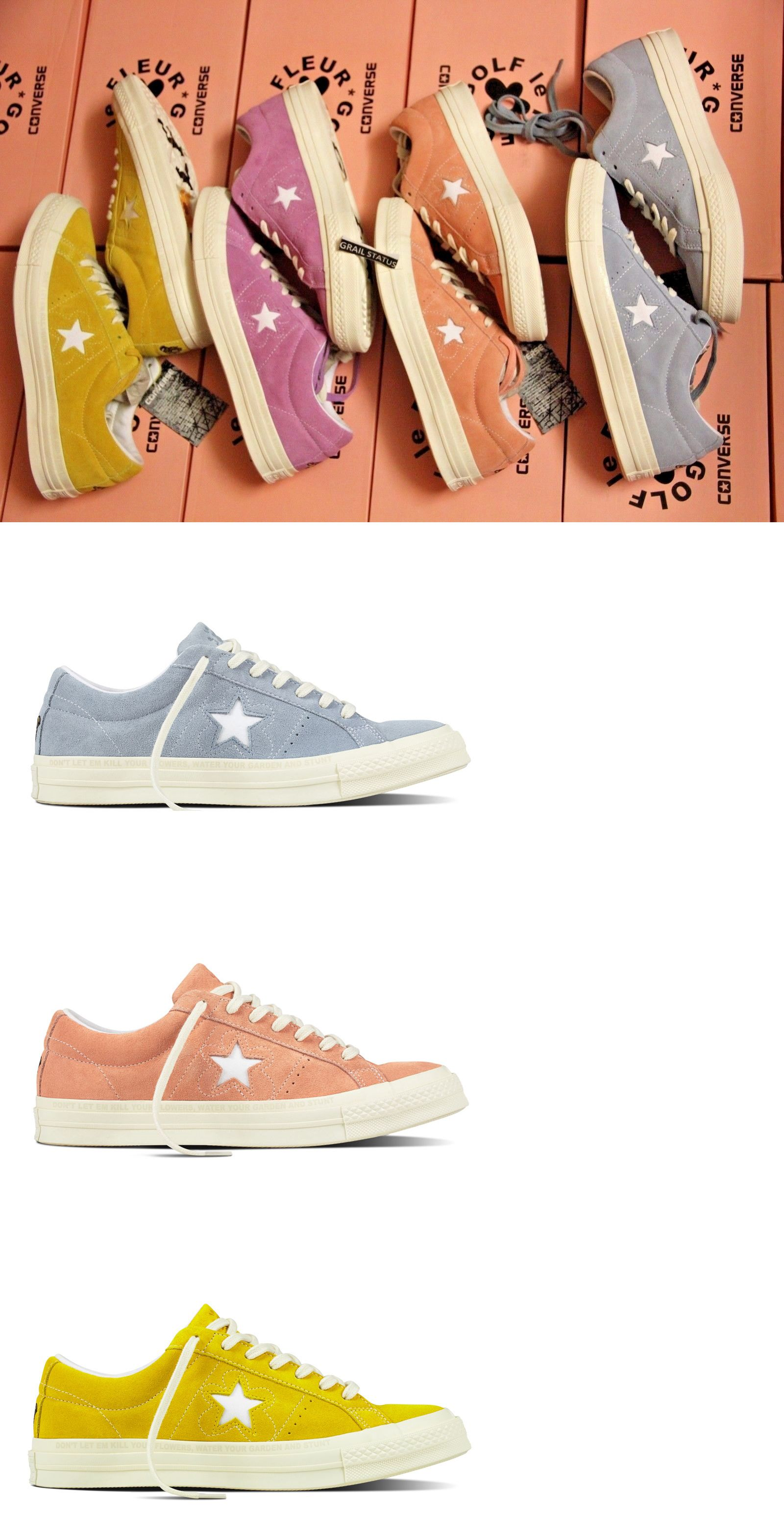 975738d9352255 Athletic 15709  Converse One Star X Golf Le Fleur Suede Tyler The Creator  Size 5-10 Limited -  BUY IT NOW ONLY   169.95 on eBay!