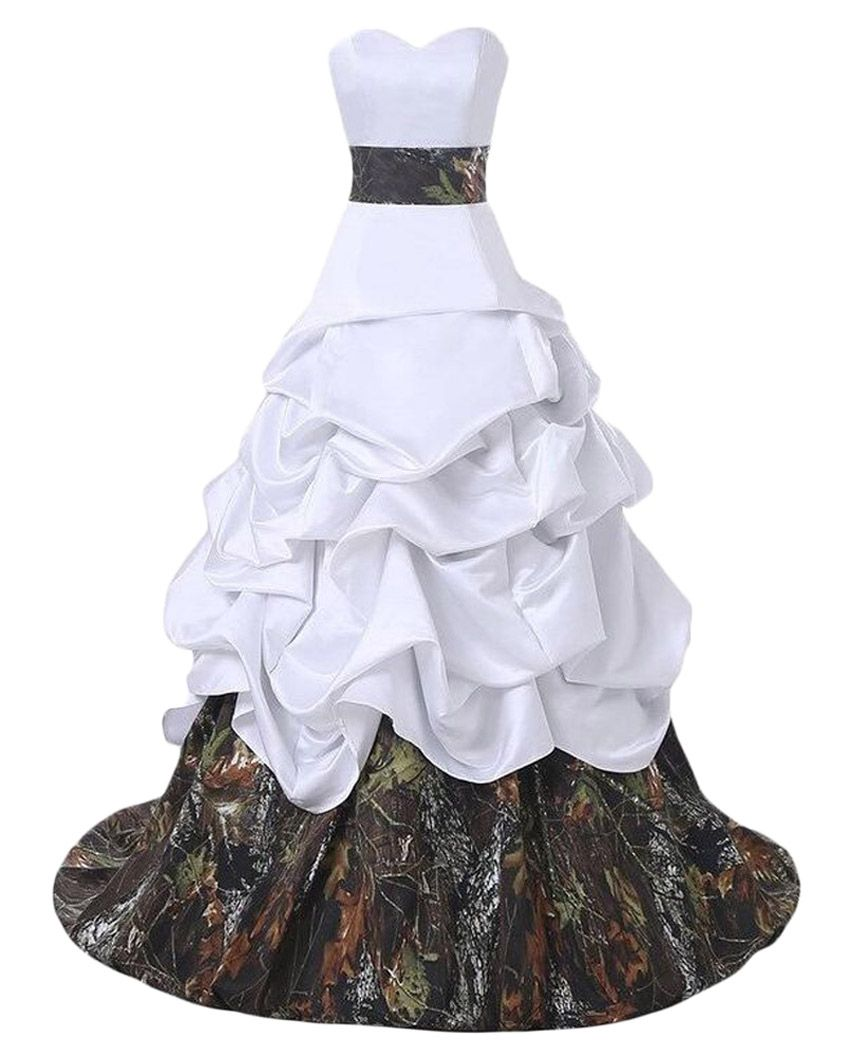 Click to buy ucuc new arrival amazing camo wedding dresses white
