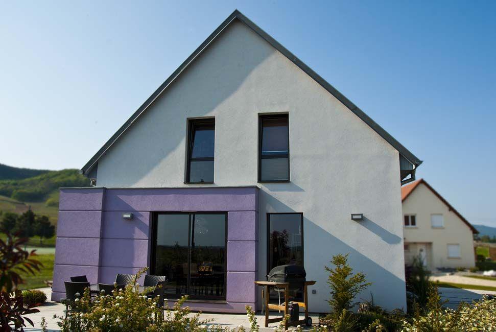 Exemple de construction de maison cubique en Alsace Nos - exemple de facade de maison