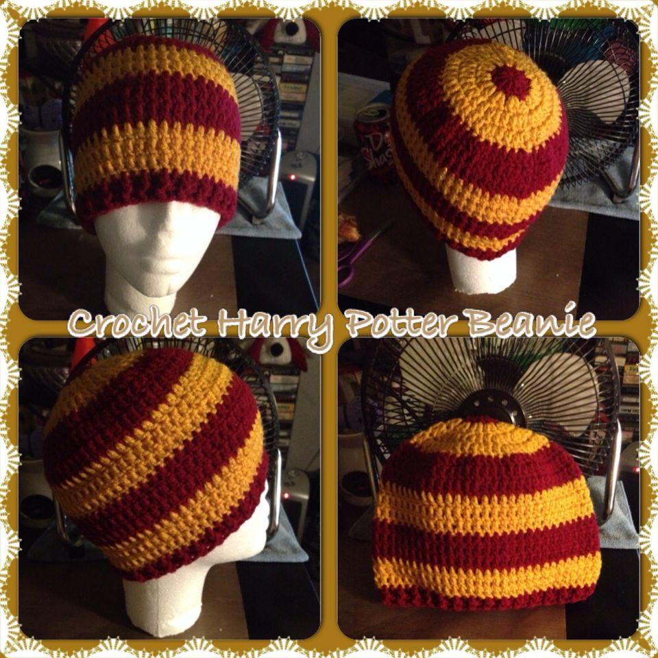 Crochet Harry Potter Beanie Crochet Hood 7940b6905a3