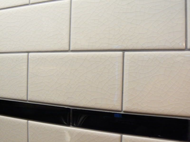 Delorean Gray Grout On Crackly White Subway Tile Nice