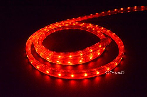 Cbconcept Ul Listed 50 Feet 5500 Lumen Red Dimmable 110120v Ac Flexible Flat Led Strip Rope Light 930 U With Images Rope Light Outdoor Rope Lights Flexible Flats