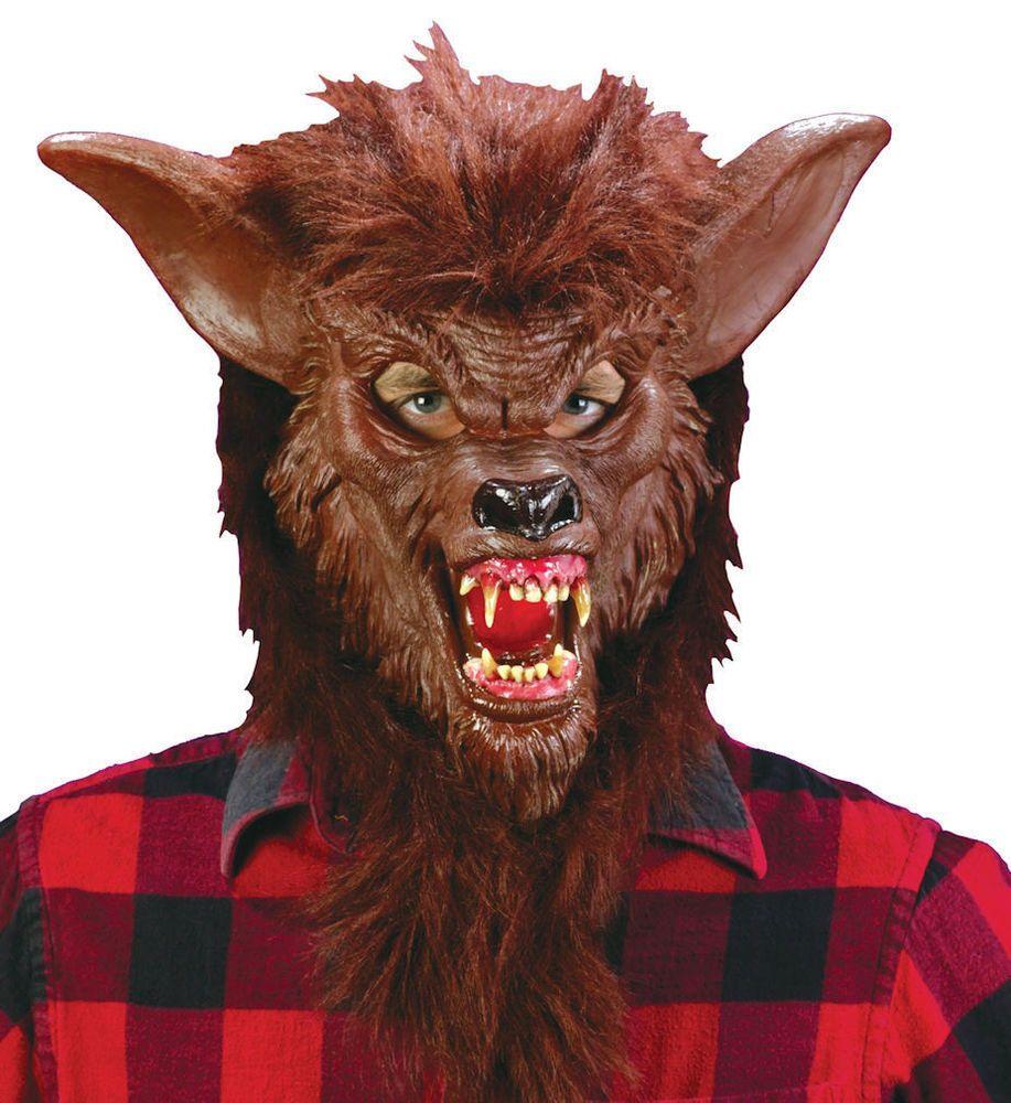 Ferocious fangs werewolf brown funworld werewolf mask