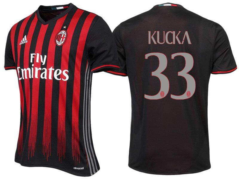 AC Milan #33 Juraj Kucka 2016-17 Home Jersey