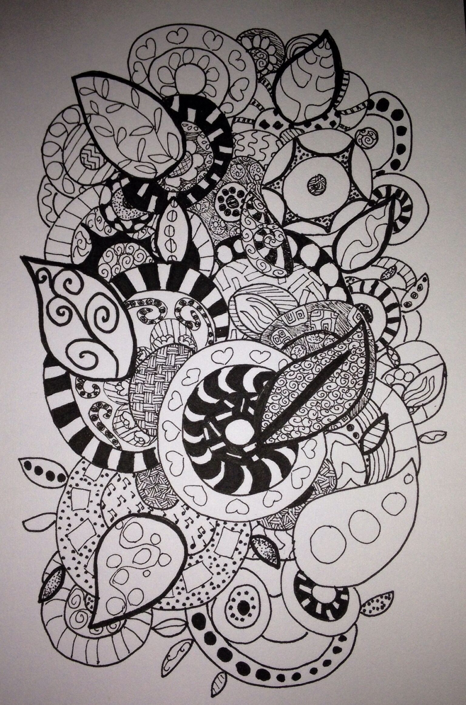 Another one of my zen doodle designs a study of circles - Doodle dessin ...