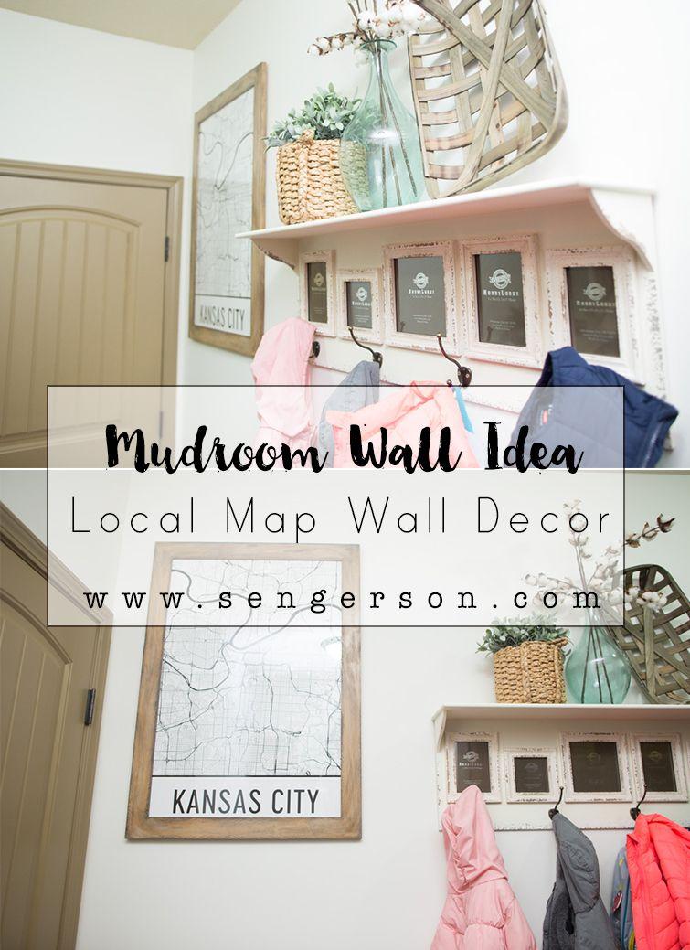 Mudroom Laundry Room Map Decor Idea Laundry Room Wall Decor