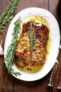 R ti de porc comme en toscane recettes pinterest r ti de porc porc et viande - Cuisiner un roti de biche ...