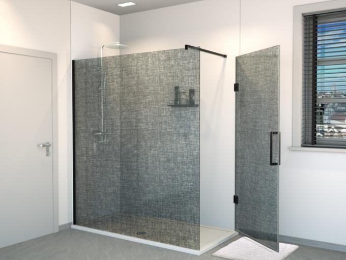 Inloopdouche Met Badkamerspecialist : Modular shower system inloopdouche 160 cm x2o de voordeligste