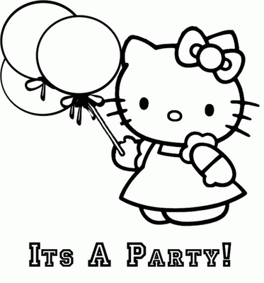 Happy Hello Kitty Coloring Pages One again free disney coloring ...
