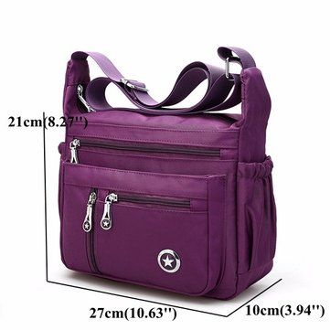 52345b4cea1e Multi-pocket Nylon Waterproof 5 Colors Shoulder Bags Casual Lightweight  Crossbody Bags