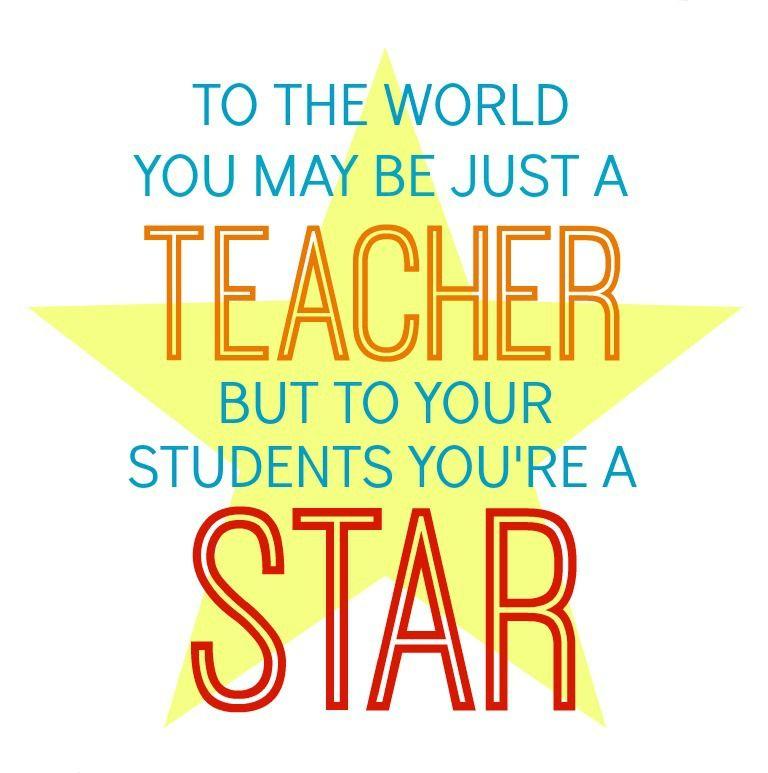 star teacher gift in a jar  teacher appreciation quotes