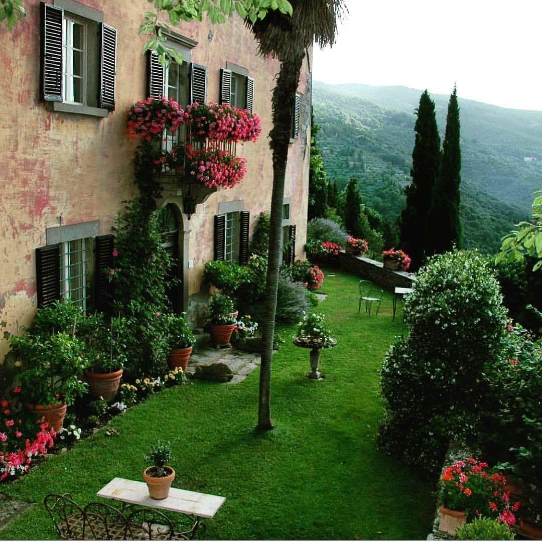 Tuscany Abendstimmung Landhaus Gartenliebe Gartendeko Landhaustraum Garten Landliv Landhausliving Landlebe Garten Design Garten Garten Ideen