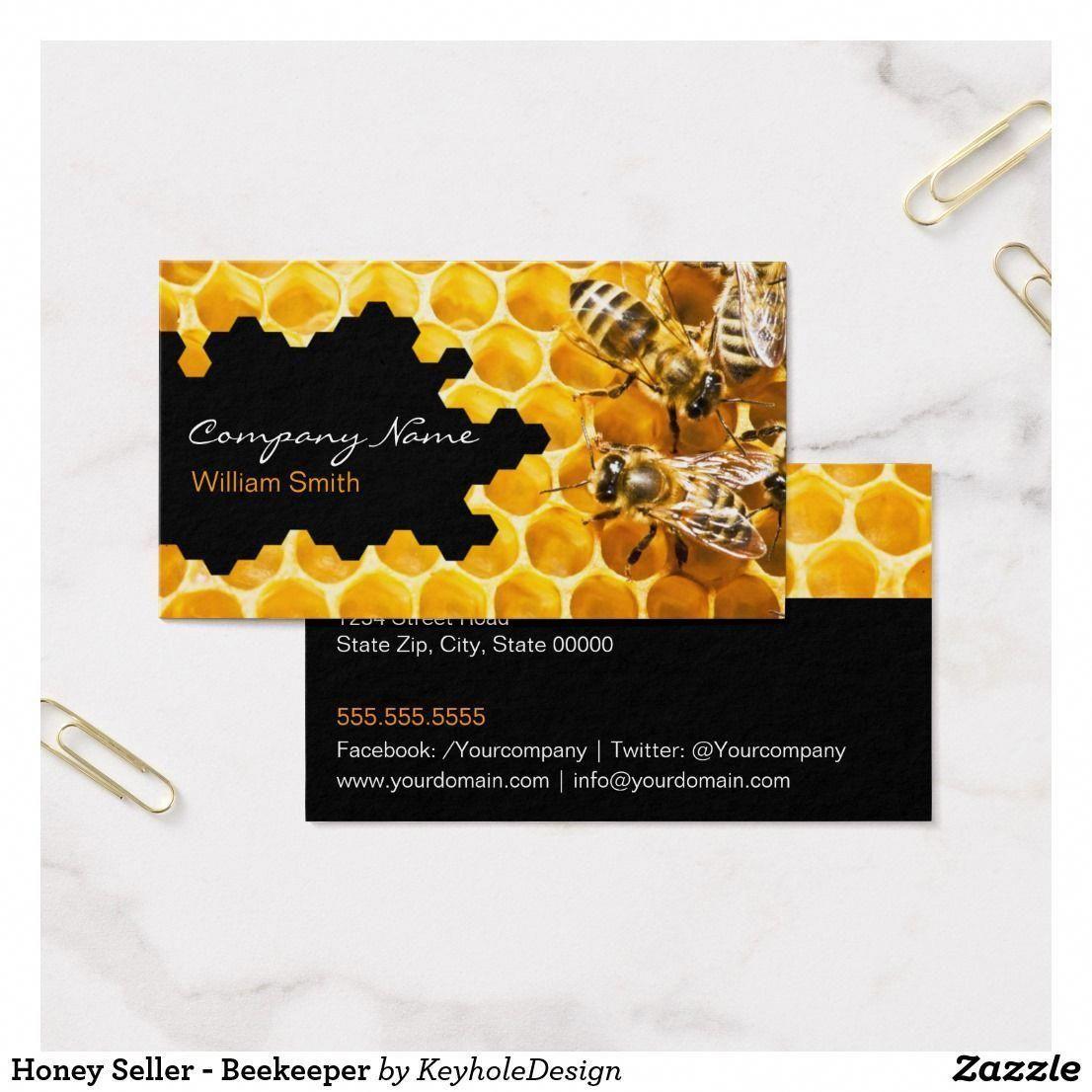 Honey Seller Beekeeper Business Card beekeepingbusiness
