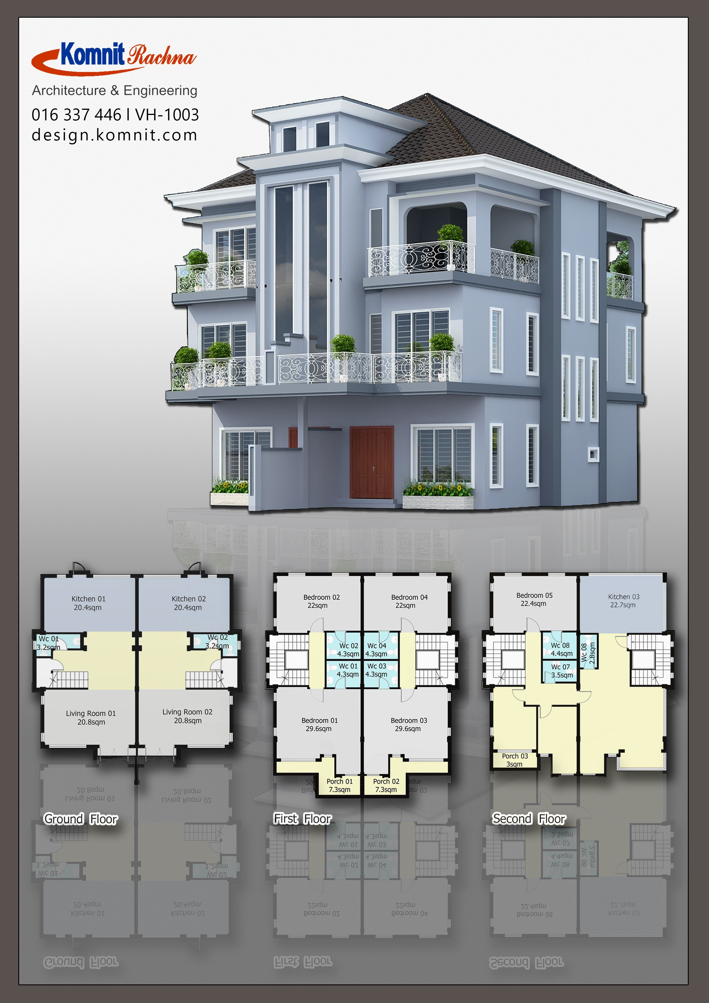 Vt K008 Vh 1003 Villas Komnit Khmer In Phnom Penh Cambodia House Blueprints Minecraft Modern House Blueprints Architectural House Plans