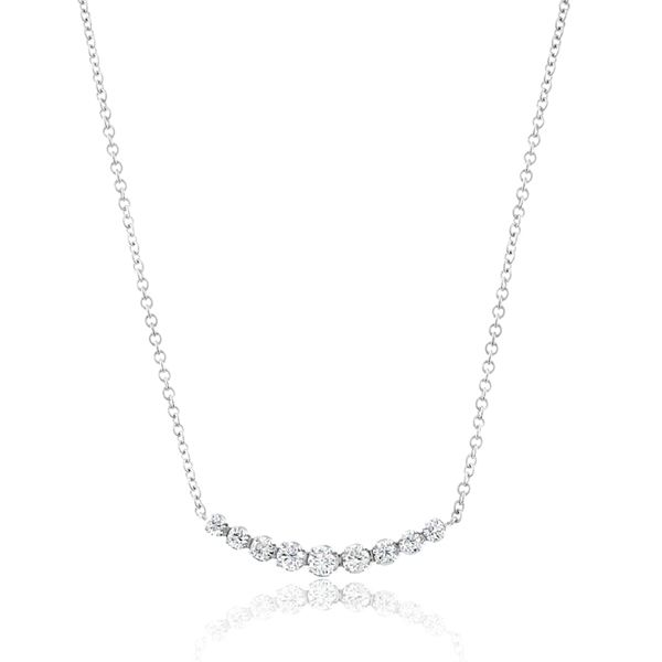 Diamond Curved Bar Necklace Reis Nichols Jewelers Curved Bar Necklace Silver Diamond Necklace Diamond Bar Necklace