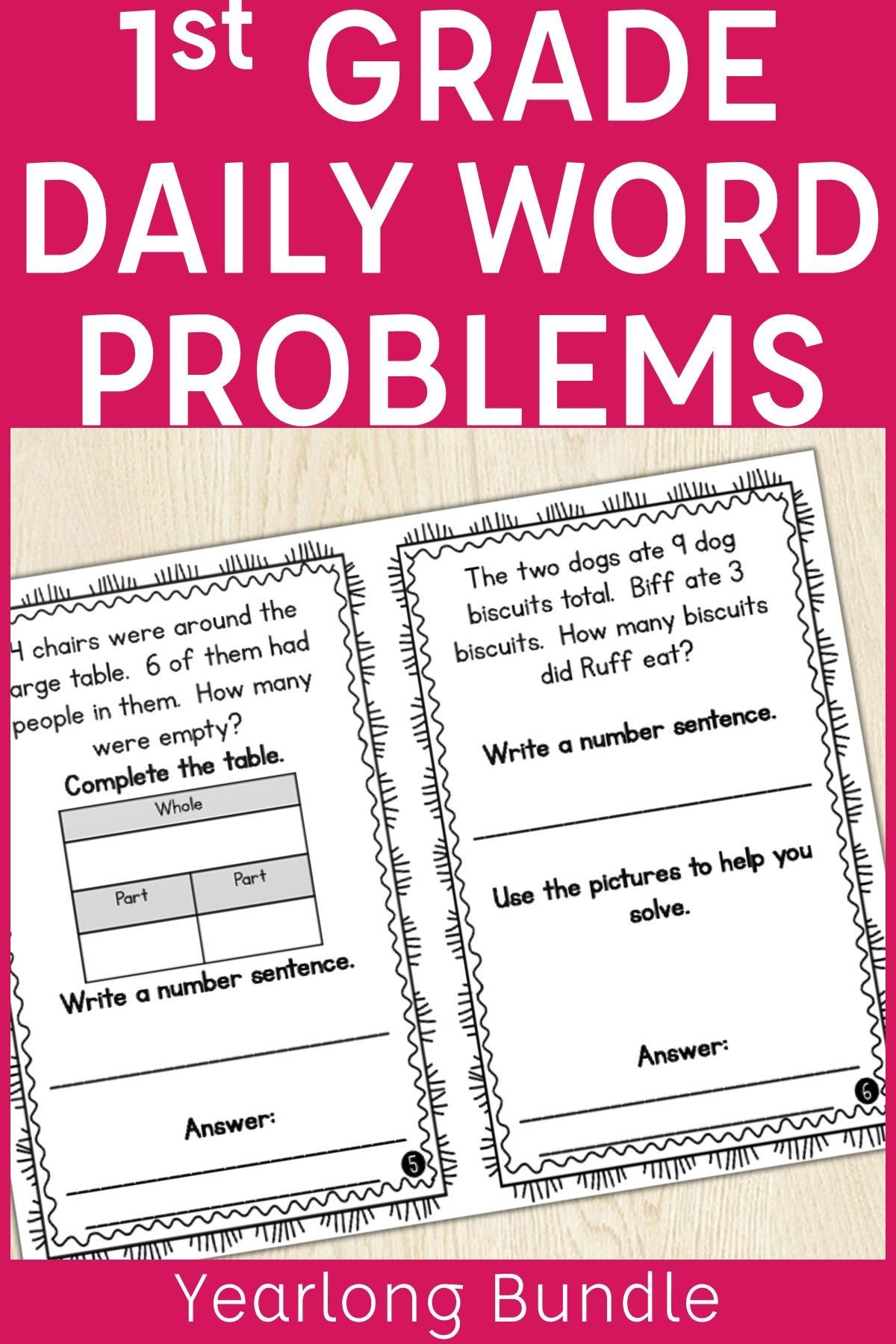 Build Students Problem Solving Skills In First Grade With These Problem Of The Day Word Problems This Year Word Problems Elementary Math Classroom Daily Math [ 1800 x 1200 Pixel ]