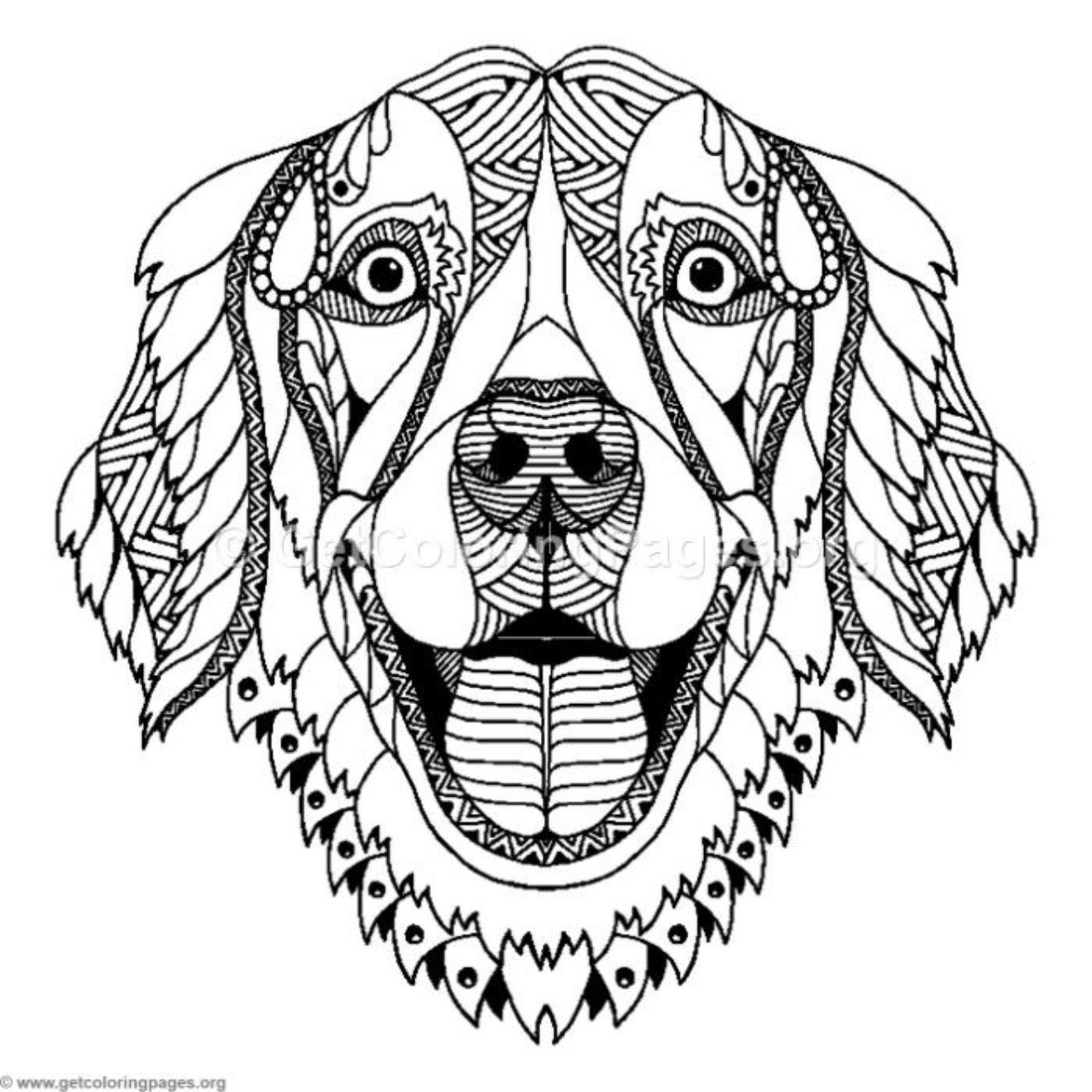 Zentangle Dog Coloring Pages Getcoloringpages Org