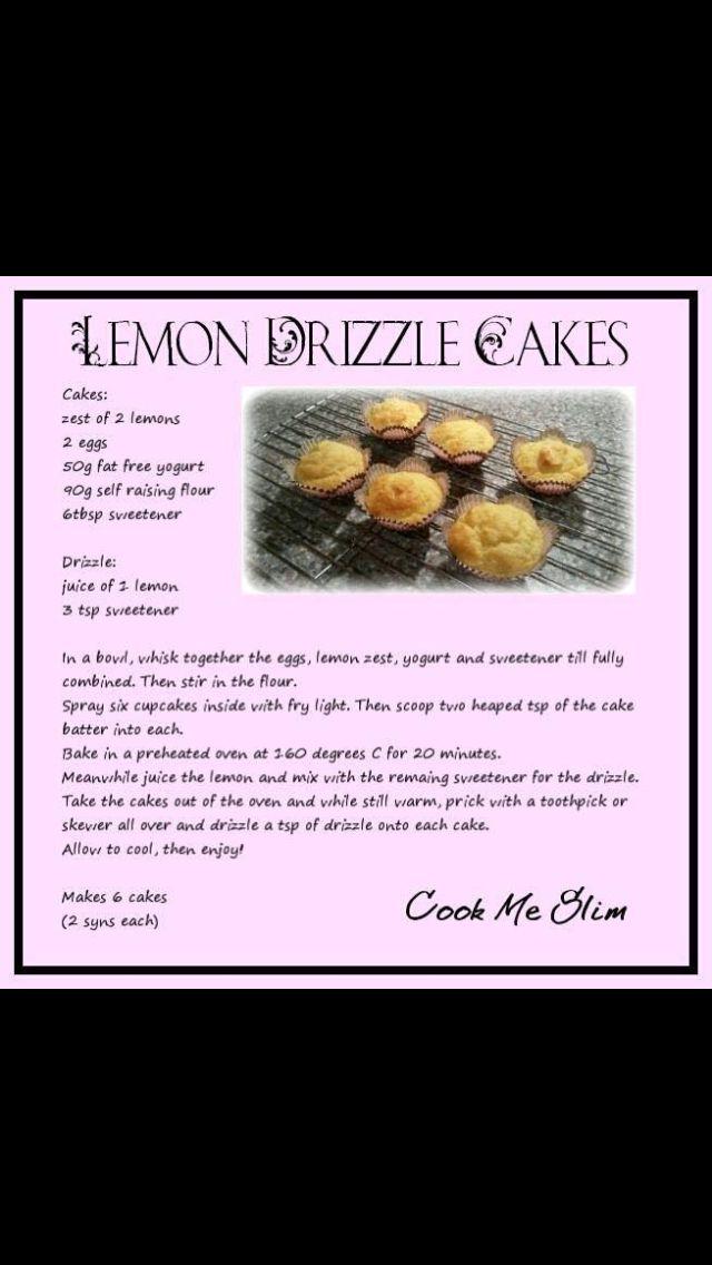 Slimming world lemon drizzle cakes | Lemon drizzle cake