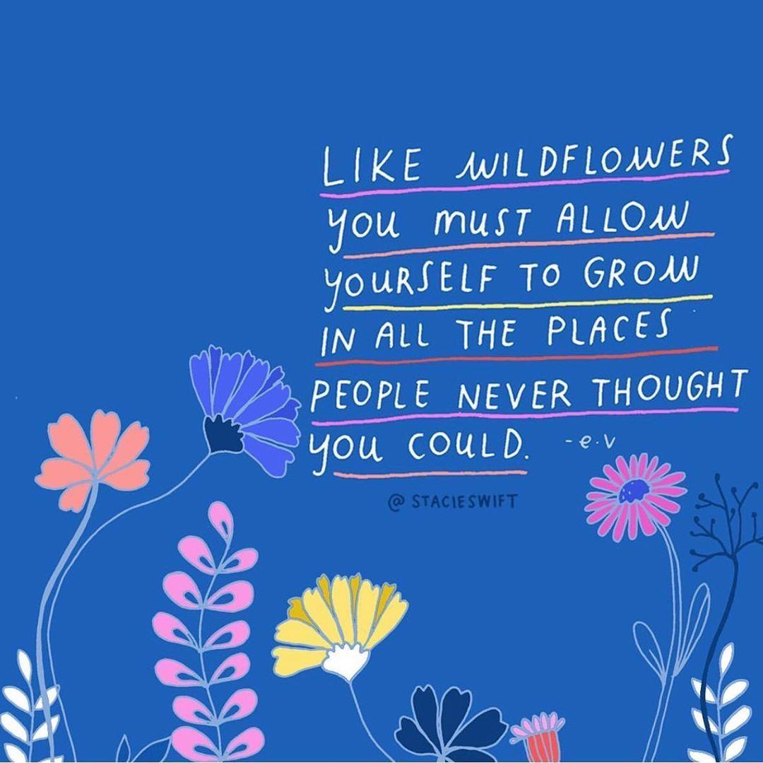 Como las flores silvestres debes permitirte crecer en todos los lugares que  la gente nunca pensó que podría… | Teachers illustration, Life journal,  Spiritual quotes