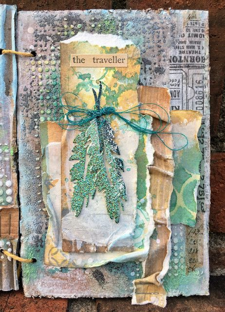 Sewpaperpaint Birds Mixed Media Accordion Mini Album Tutorial