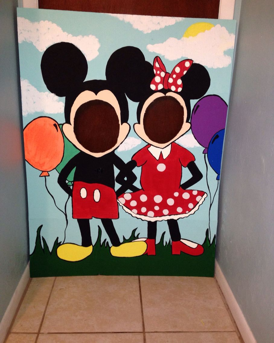 Mickey mouse clubhouse photo prop 1st bday ideas - Mickey mouse clubhouse bedroom decor ...