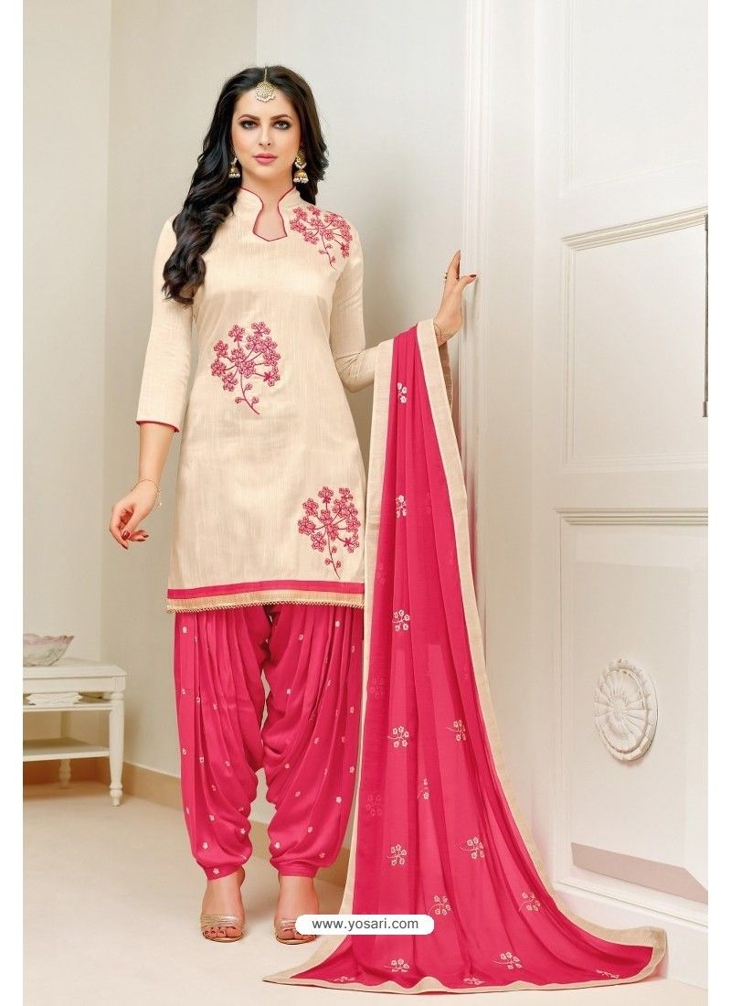 b2266bc516 Buy Cream And Pink Lawn Slub Cotton Salwar Suit from India at yosari.com .  Model:YOS15907, Express Worldwide Shipping, 14 Days 100% return policy