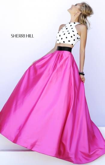 Very cute Sherri Hill prom dress, kind of poodle skirt inspired ...