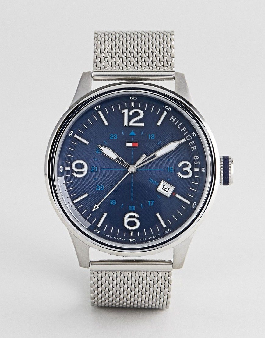 170ee58a TOMMY HILFIGER PETER WATCH IN STAINLESS STEEL WITH BLUE DIAL - SILVER. # tommyhilfiger #