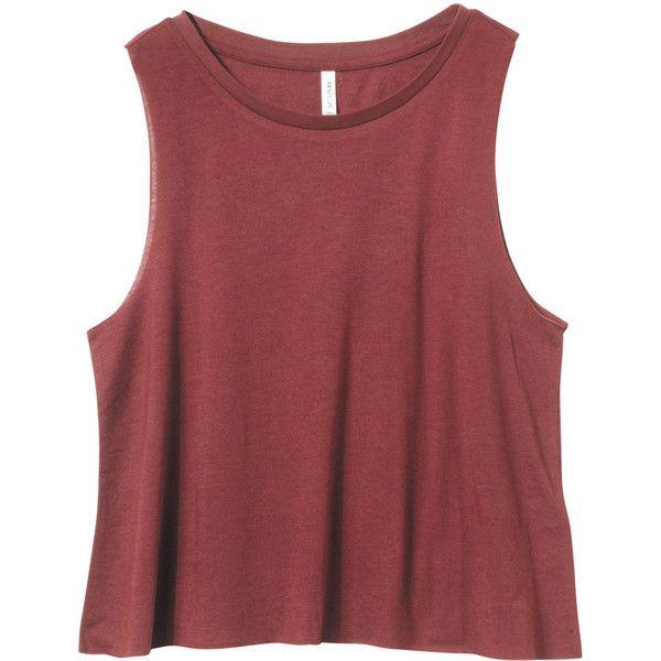 Sundialed Tank Top (€30) ❤ liked on Polyvore featuring tops, shirts, tank tops, tanks, loose crop top, red shirt, muscle t shirt, loose crop tank and crop top