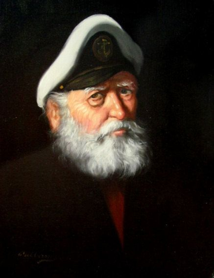 A Weathered Sea Captain Oil Painting Reproduction Print In 2019