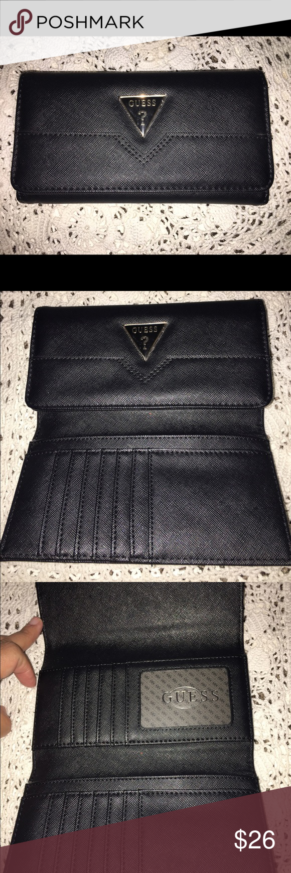 New Guess Wallet. Guess Wallet is new, black medium size. Guess Bags Wallets