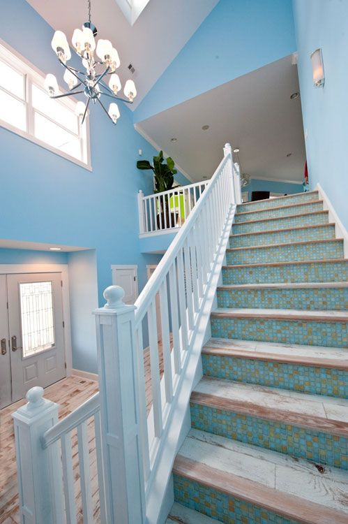Seaside Getaway Home Building Design Coastal Living Rooms House Turquoise
