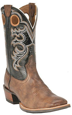 7396a6e1028 Ariat Men's Crossfire Weathered Brown with Black Double Welt Square ...