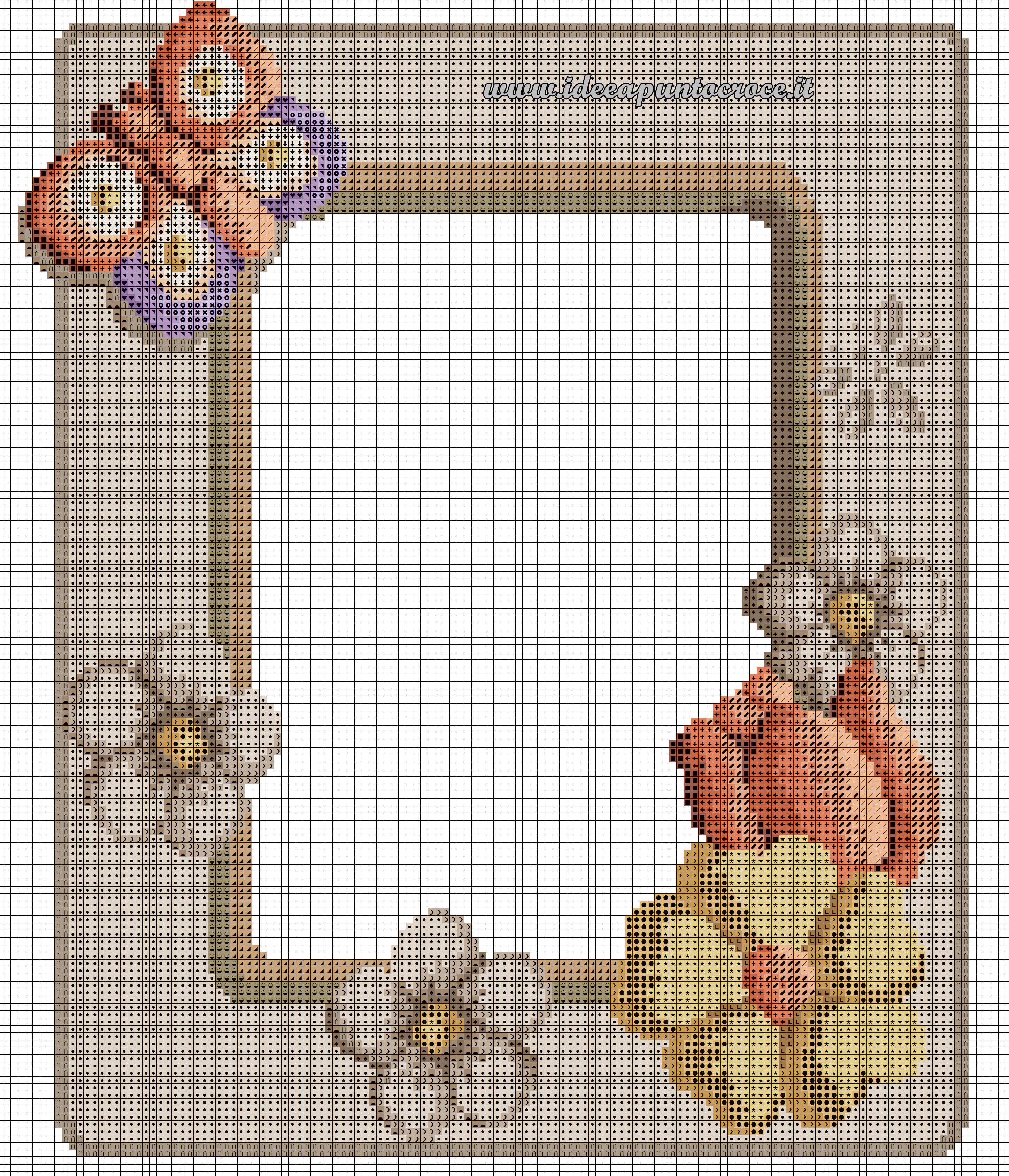 schema punto croce cornice Thun SCHEMI THUN Pinterest