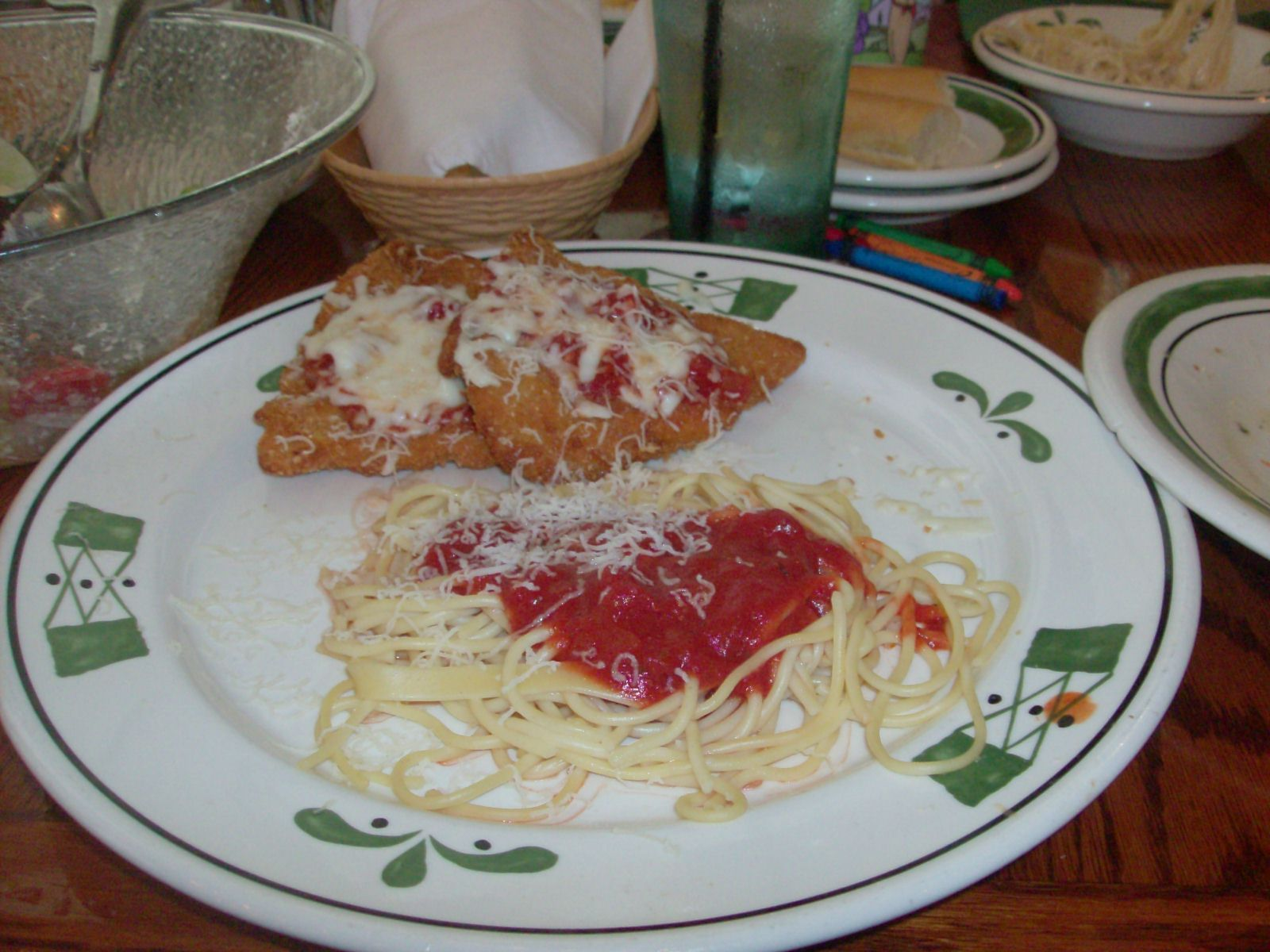 olive garden copycat recipes chicken parmigiana wasnt terrible but wasnt worth making again - Olive Garden Chicken Parmigiana