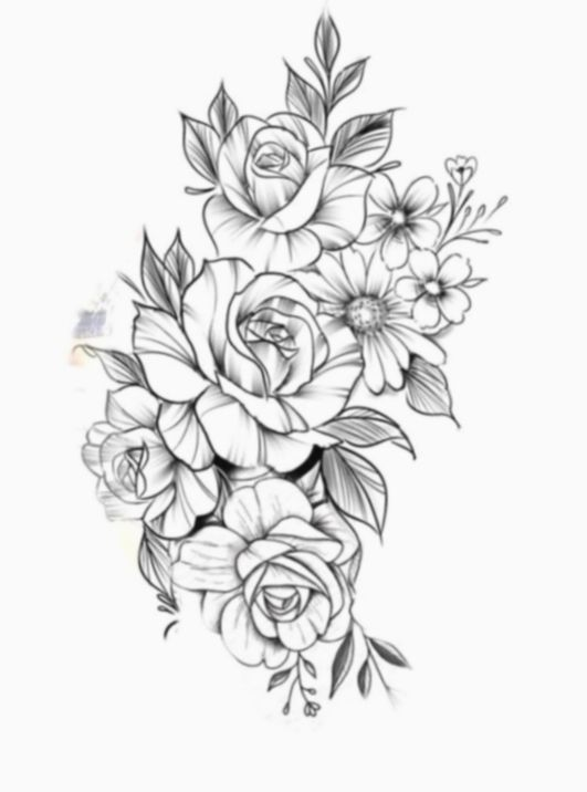 Tattoo Rose Mandala Design - Tattoo