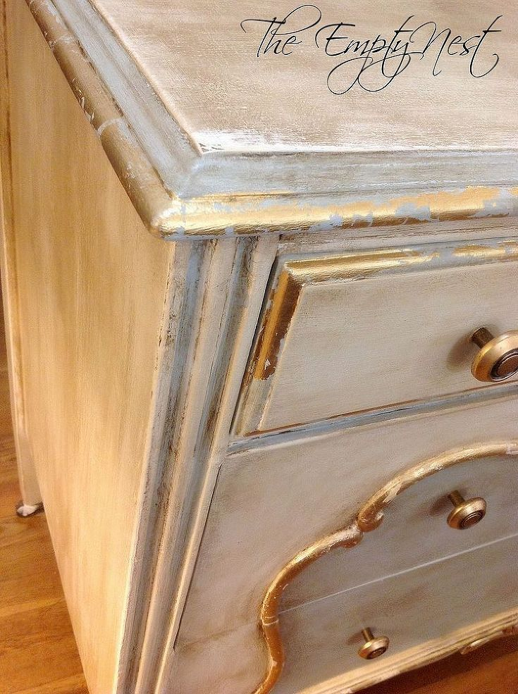 Chalk Paint Decorative By Annie Sloan Pure White And A Custom Mix Of Louis Blue Clear Lots Dark Wax