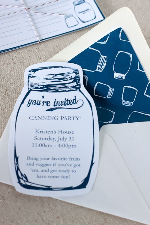 I think I want to throw a canning party!! Cute Invitation