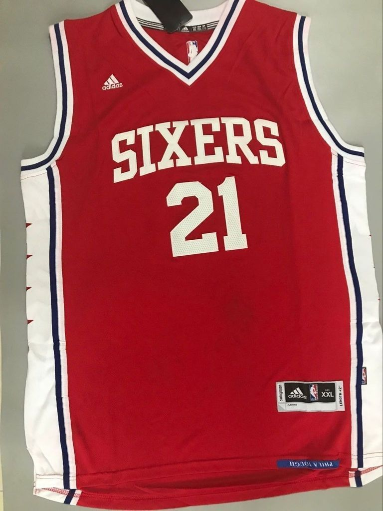 2cbaa4a0fe9 Men 21 Joel Embiid Jersey Red Philadelphia 76ers Swingman Jersey Fanatics