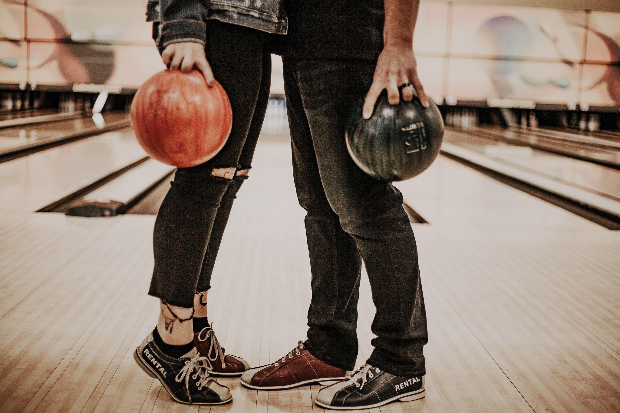 Bowling Engagement Photoshoot Engagement Photoshoot Couples Photoshoot Engagement Inspo