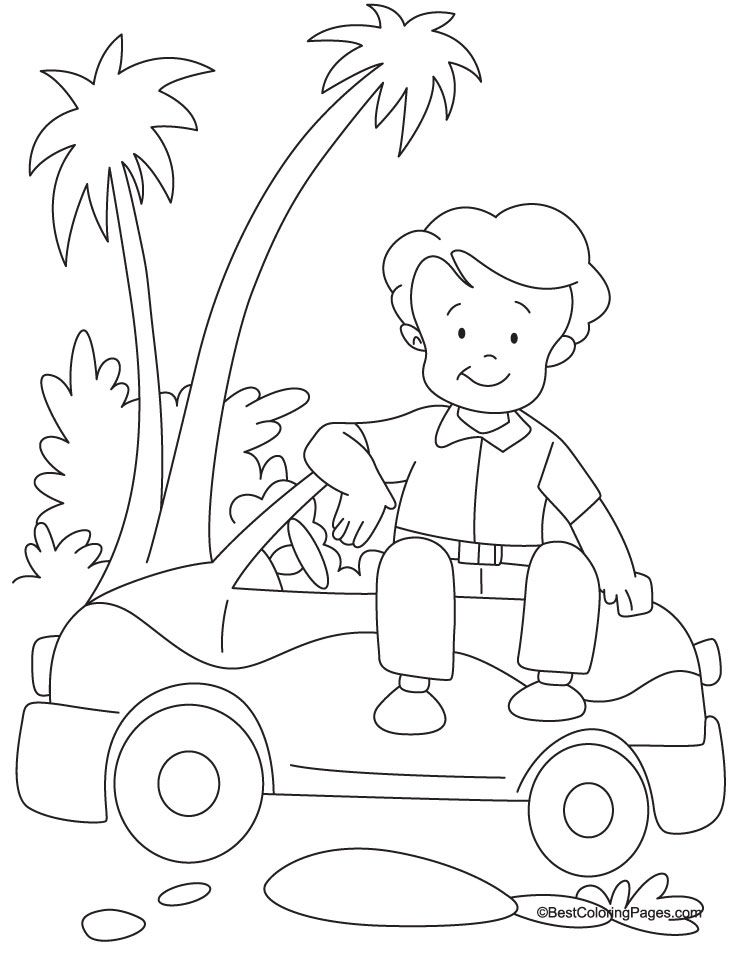 Mini Car Coloring Page Download Free Mini Car Coloring Page For