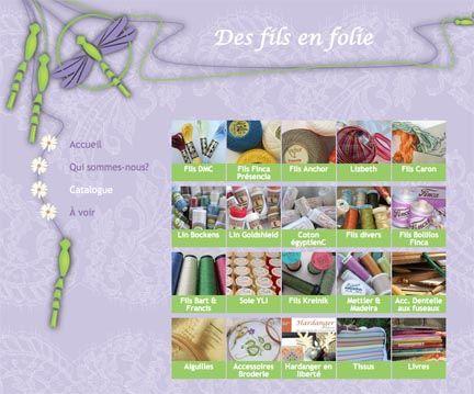 Des Fils En Folie in Quebec carries Kreinik threads