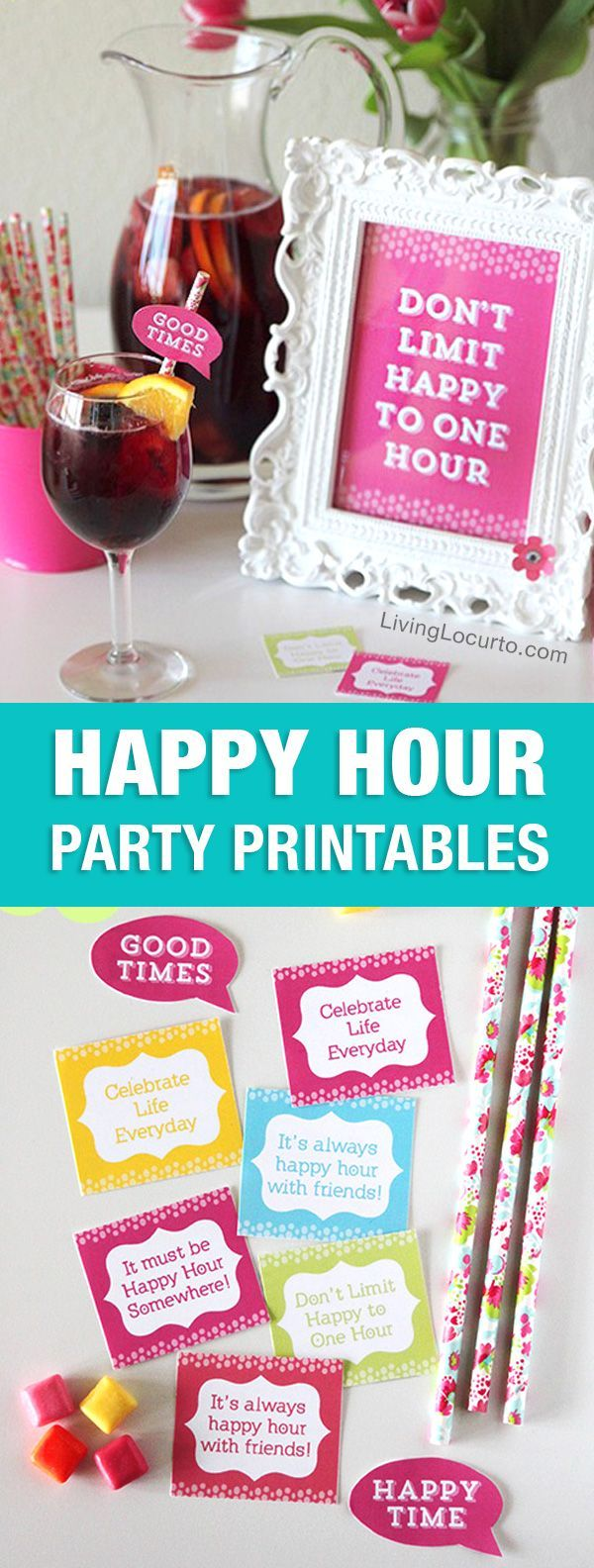 Fun Happy Hour Party Ideas Happy Hour Party Party Planning Printable Diy Kids Party