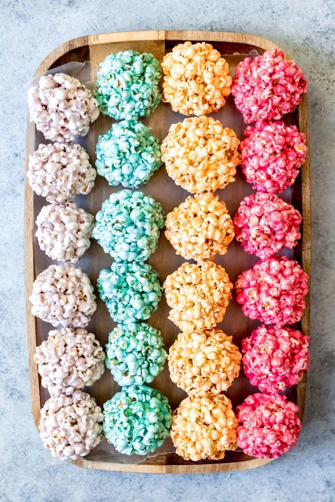 Easy Marshmallow Popcorn Balls #popcornballs
