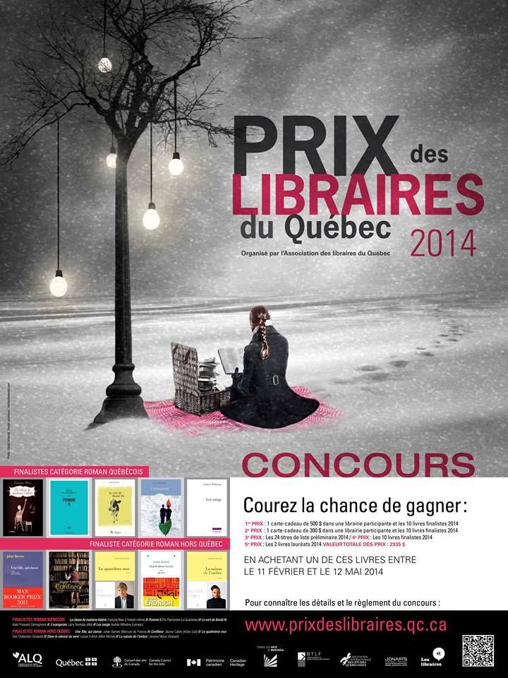 Le Prix des libraires du Québec 2014